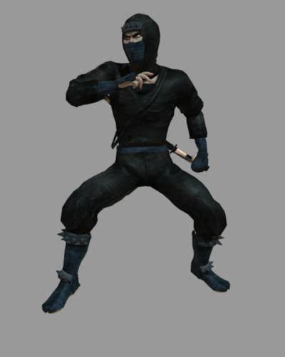 Töff Ninja by Male Ninja 3d Model