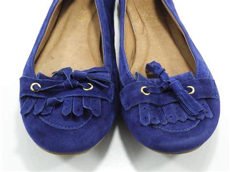 royal blue flats womens shoes aldo 8 m womens shoes royal blue ballet flats tassel