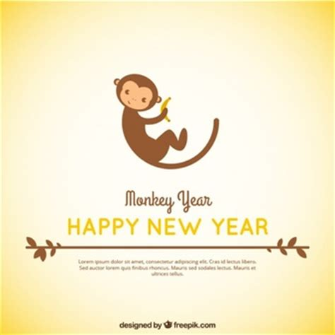 new year monkey logo monkey vectors photos and psd files free