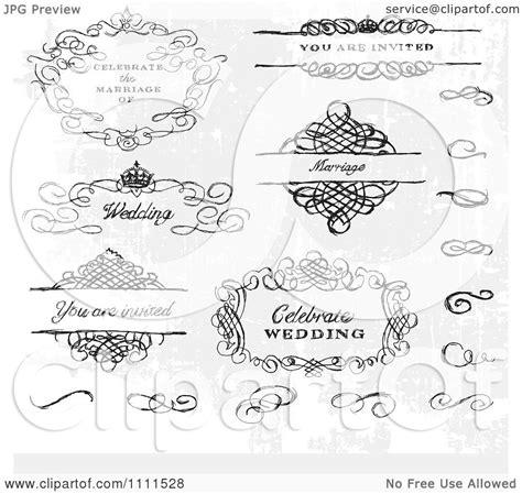 wedding design elements vector free clipart hand drawn wedding design elements and swirls