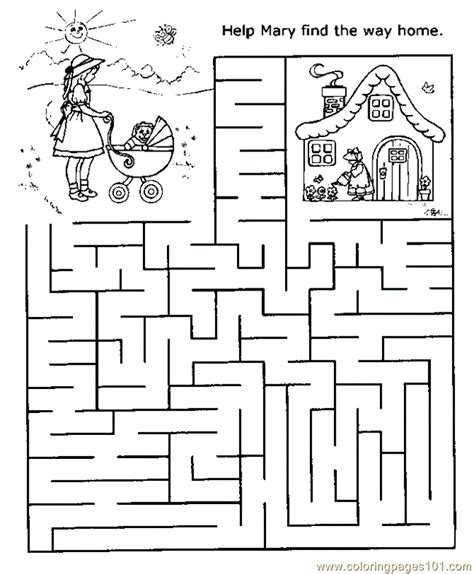 Printable Money Maze | money maze coloring pages coloring pages