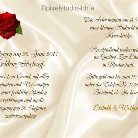 Einladungen Goldene Hochzeit by Einladung Goldene Hochzeit Text 8 Einladungskarte Drucken