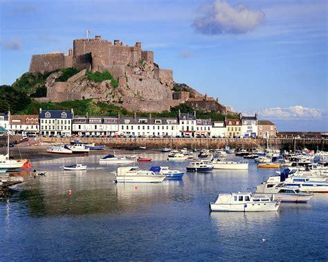 Jersey Castle mont orgueil castle gorey harbor jersey u k places