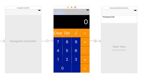 calculator xcode ios pass data from viewcontroller to tableviewcontroller