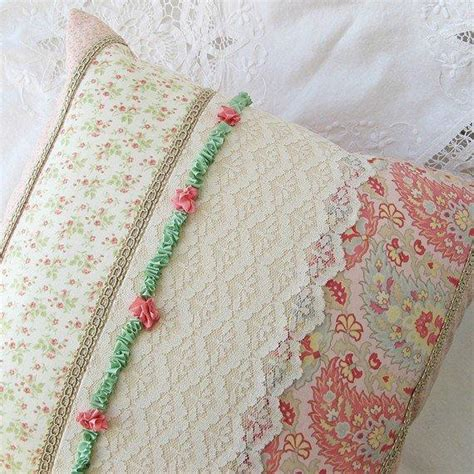 shabby chic pillow cover ribbon from toronto canada