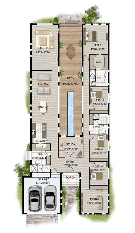 contemporary house designs floor plans best 25 narrow house plans ideas on narrow