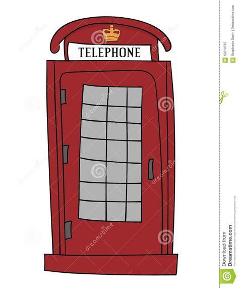 cabina telefono inglese cabina di telefono rossa britannica illustrazione