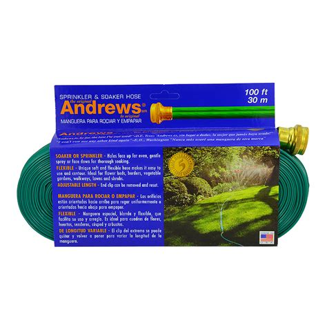 andrews ft sprinkler  soaker hose arts nursery