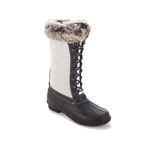 hsn sporto boots hsn sporto 174 waterproof suede and leather duck boot