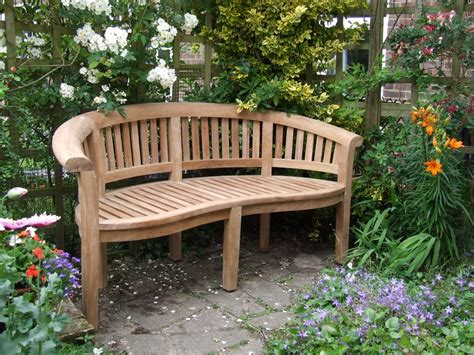 bench outdoor curved teak garden bench bali