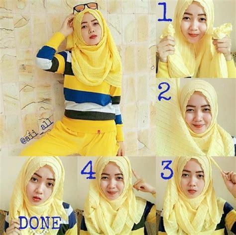 tutorial hijab turban masa kini busana muslim trendy aneka tutorial hijab modern gaul