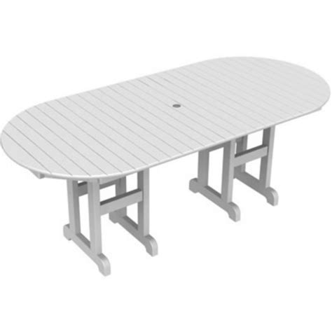 Plastic Dining Table Recycled Plastic Oval Outdoor Dining Table 78 Inch Pw Rt3678 Resinfurniturestore