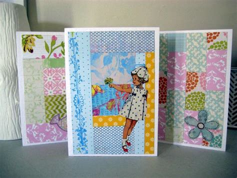 Quilt Paper Craft - paper quilt greeting cards paper scrap craft by special