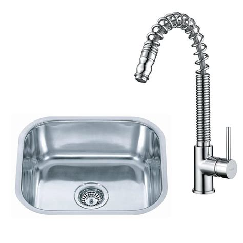 Kitchen Sink And Tap Sets Small Stainless Steel Undermount Kitchen Sink Pull Out Mixer Tap Set Kst063 Ebay
