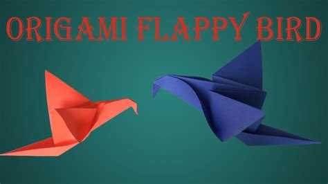 Flappy Bird Origami - how to make origami flappy bird diy flappy bird home
