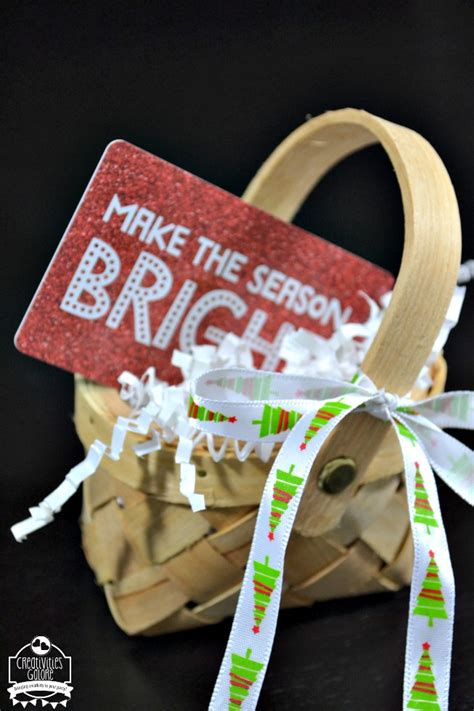 Give The Gift Card - mini gift basket creativities galore