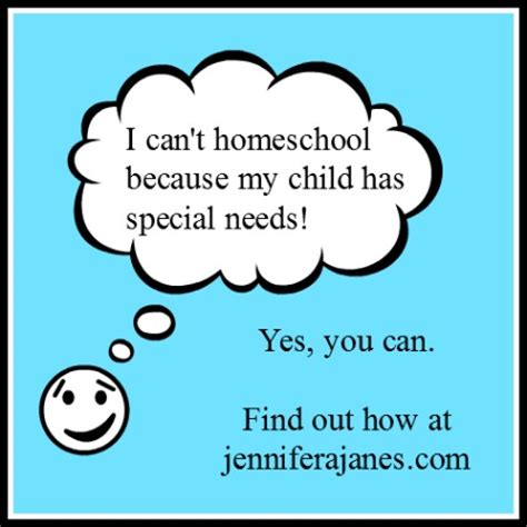 i can t homeschool because my child has special needs