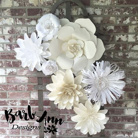 How To Make Paper Flowers For Wall - white and large paper flower backdrop barb designs