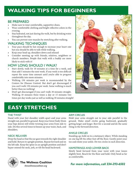 walking tips wellness resources the wellness coalition