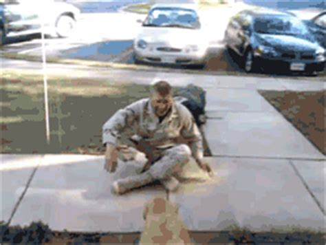 18 tear moments of soldiers reuniting with their dogs