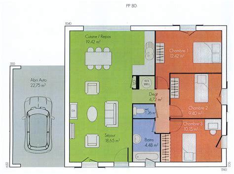 Plan Maison Plain Pied 2 Chambres 3694 by Plans Des Maisons Des Olivades Les Maisons Des Olivades