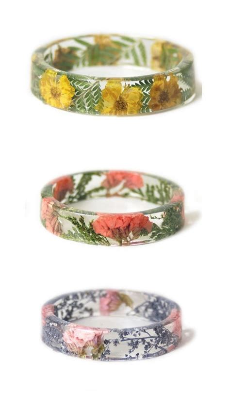 how to make flowers into jewelry 25 best ideas about resin ring on