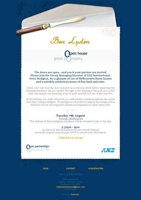 business event open house invitation template sle