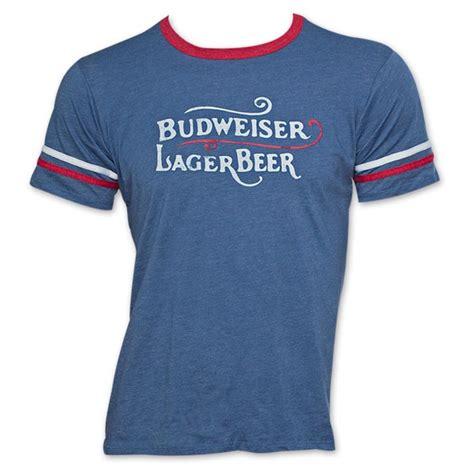 Tees Kaos T Shirt Budweiser budweiser lager vintage soccer t shirt