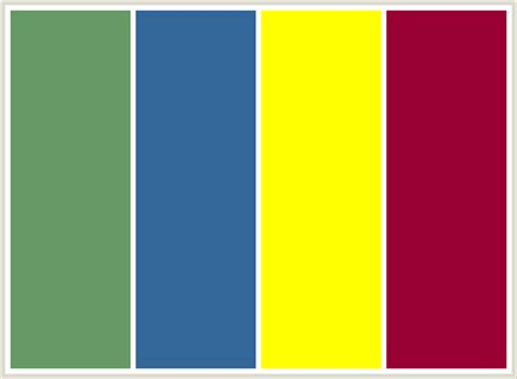 colors that go with yellow colorcombo87 with hex colors 669966 336699 ffff00 990033
