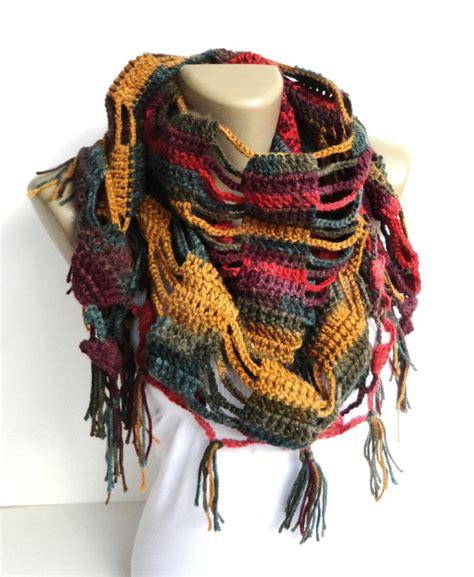 fall fashion colorful scarf crochet shawl scarfscarves