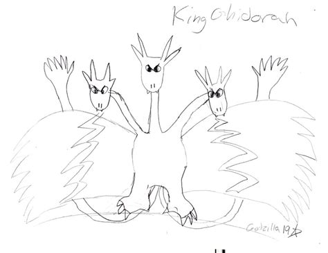 king ghidorah coloring page how to draw king ghidorah