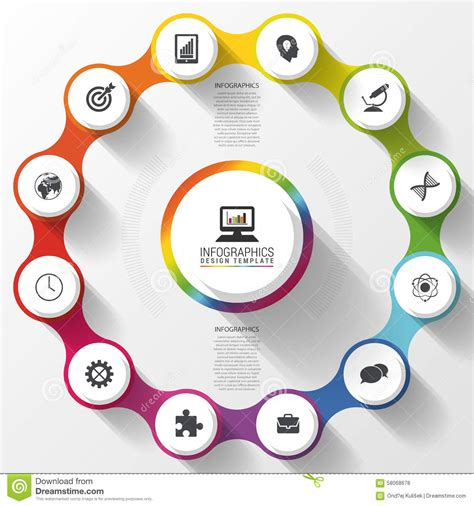 modern business circle colorful design options banner