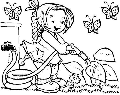 coloring pages for kids to color of spring coloring page