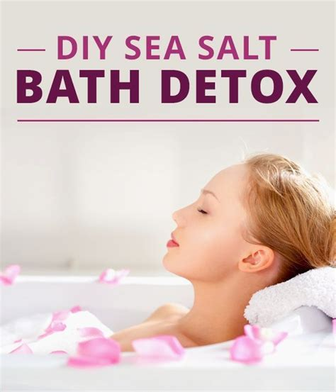 Detox Bath Qualities by Diy Sea Salt Bath Detox Salts Detox And Bath Detox