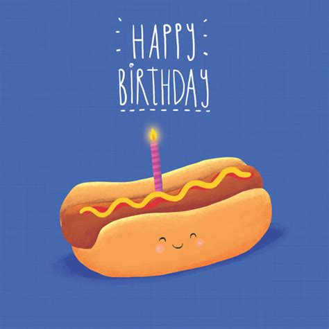 Hotdog Anyone hotdog birthday card card for anyone