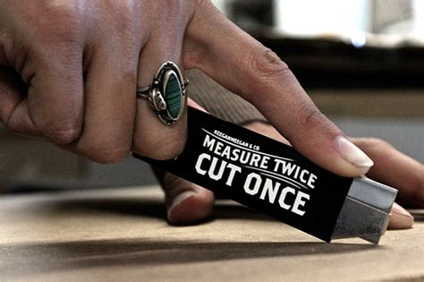 """Measure Twice, Cut Once"" box cutter - Fonts In Use O Brother, Where Art Thou Movie Poster"