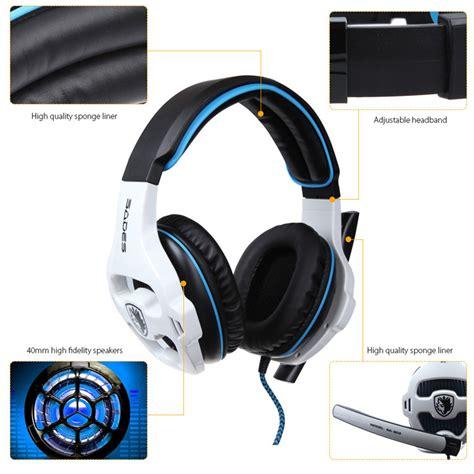 Jual Headset Sades Medan jual sades sa 903 stereo 7 1 surround sound pro usb gaming headset with mic headband headphone