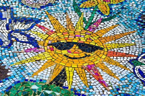 Sunset Wall Mural free photo mosaic sun tiles stone summer free image