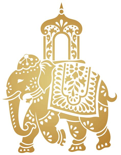 indian clipart asian elephant clipart line pencil and in color