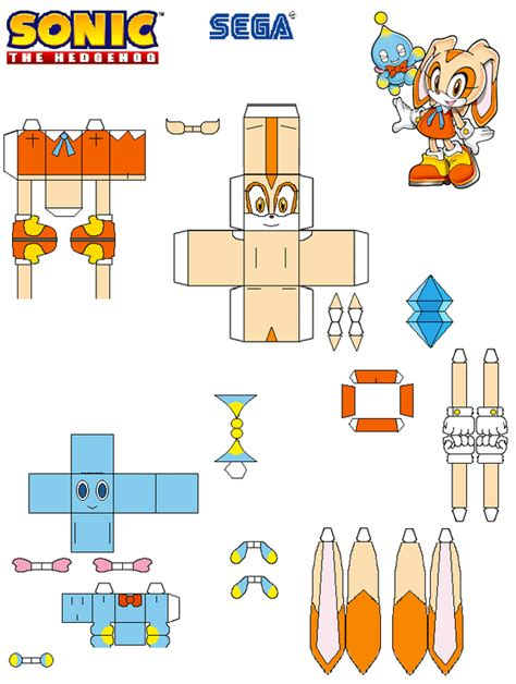 Sonic The Hedgehog Paper Crafts - sonic the hedgehog papercraft and cheese by