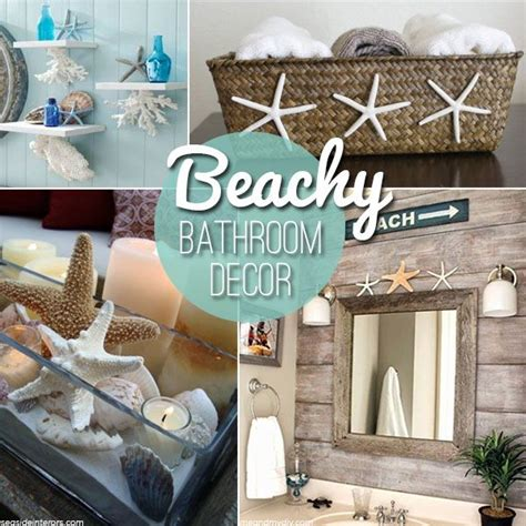 summer bathroom decor 17 beste idee 235 n over beach themed decor op pinterest strand metselaarkruiken