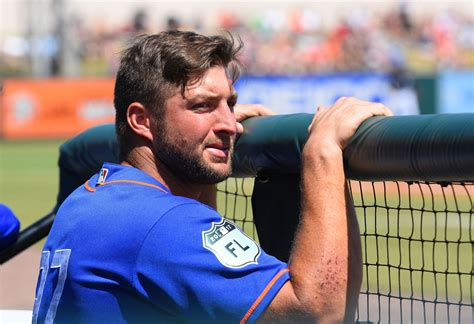 recent news on tim tebow unsigned free agent rotoworldcom tim tebow hits home run in first at bat