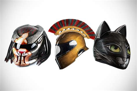 you won t believe these are actually motorcycle helmets