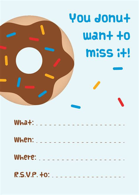 printable invitation party mini donuts free printable donut party invitations
