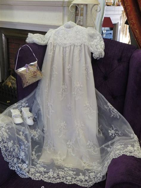 Handmade Christening Gowns - lace heirloom christening gown handmade christening