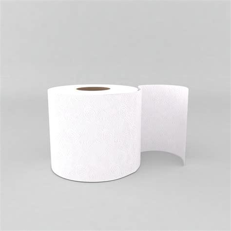 toilet paper 3d 3d model toilet paper