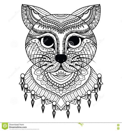 clean lines doodle art  cute cat  coloring book