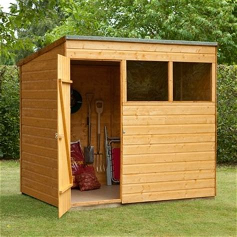 7x5 Wooden Shed by 7x5 Tongue And Groove Pent Wooden Shed Traditional