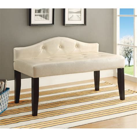 white bedroom bench furniture of america faux leather bedroom bench in white idf bn6796wh s