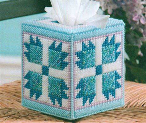 tissue holder pattern free pioneer quilt tissue box cover plastic canvas pattern